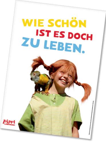 Pippi (Film) Poster Pippi und Herr Nilsson, 4260160897162