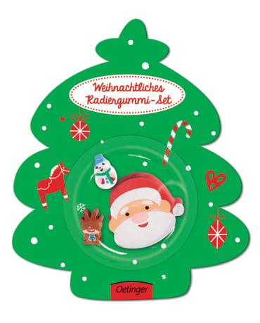 Weihnachten Weihnachtsmann Radiergummi-Set, 4260512180027