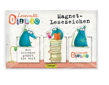 Leseratte Magnet-Lesezeichen, 4260160899715