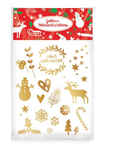 Weihnachten goldene Weihnachtstattoos, 4260160894574