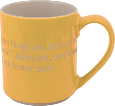 Astrid Lindgren-Helden. Becher Tasse gelb, 4260512181161