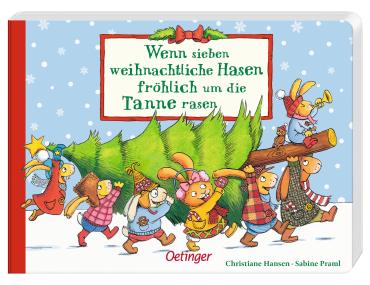 Wenn sieben weihnachtliche Hasen fröhlich um die Tanne rasen, 9783789108396