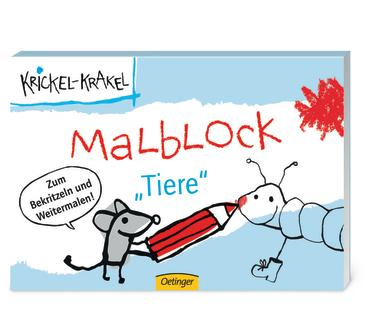 Krickel-Krakel Malblock Tiere, 9783789166310