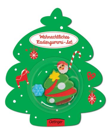 Weihnachtliches Radiergummi-Set Tannenbaum, 4260160899241