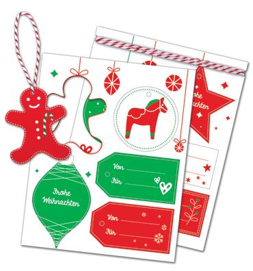 10 weihnachtliche Geschenkanhänger, 4260160897841
