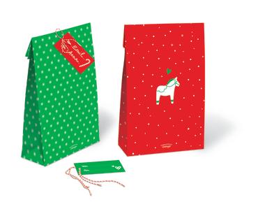 Weihnachtliches Geschenktüten-Set, 4260160897087