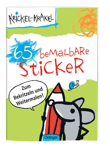 Krickel-Krakel 65 bemalbare Sticker, 4260160897551