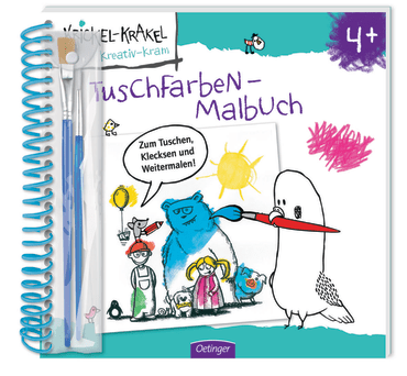 Krickel-Krakel Tuschfarben-Malbuch, 9783789103872