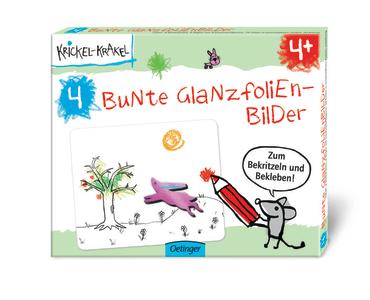 Krickel-Krakel 4 Bunte Glanzfolienbilder, 4260160897865