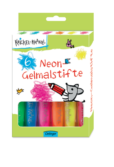 Krickel-Krakel 6 Neon-Gelmalstifte, 4260160898794