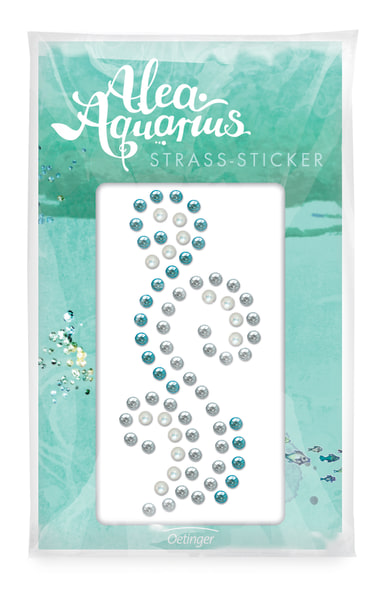 Alea Aquarius Strass-Sticker, 4260160899579