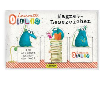 Leseratte Otilie Magnet-Lesezeichen, 4260160899715