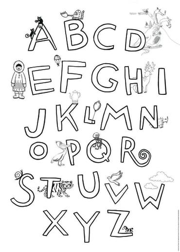 Krickel-Krakel ABC Poster, 4260160894895