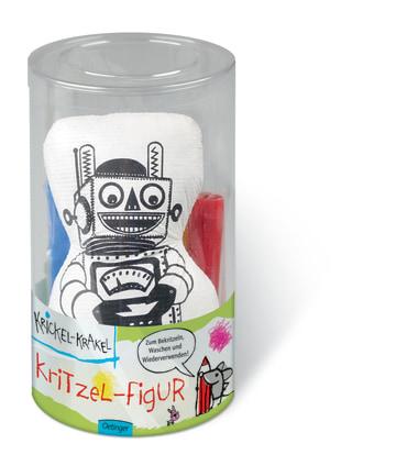 Krickel-Krakel Kritzel-Figur Roboter, 4260160898497
