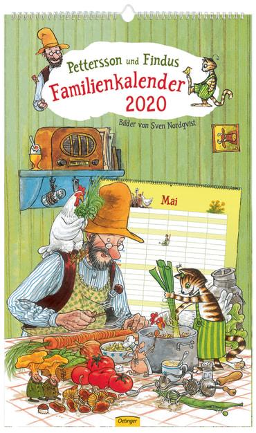 Pettersson und Findus Familienkalender 2020, 4260512180744