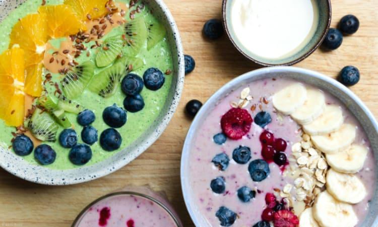 Smoothie Bowl Rezepte | selbst gemacht Rezepte gesunde Ernährung Frühstück Smoothies