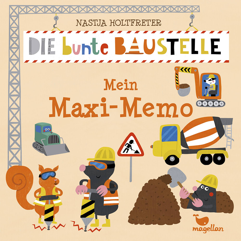 Die bunte Baustelle - Mein Maxi-Memo