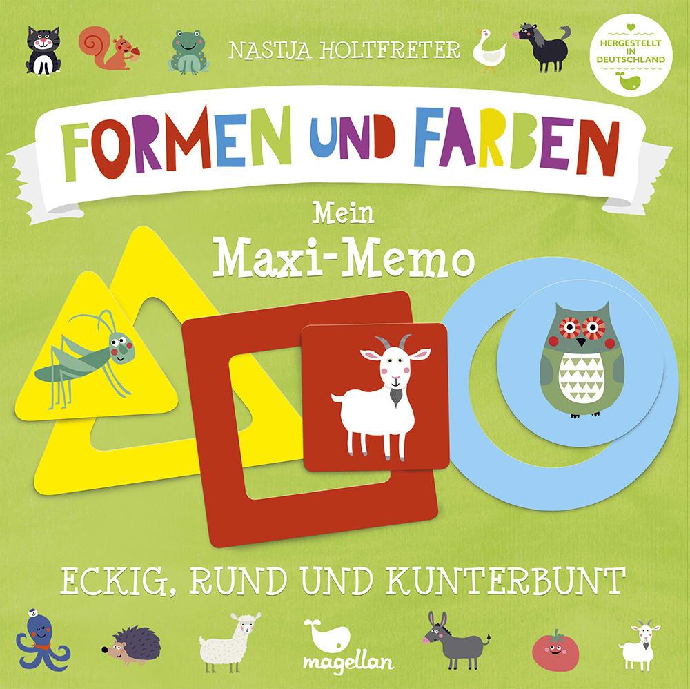 Eckig, rund und kunterbunt - Mein Maxi-Memo - Formen und Farben