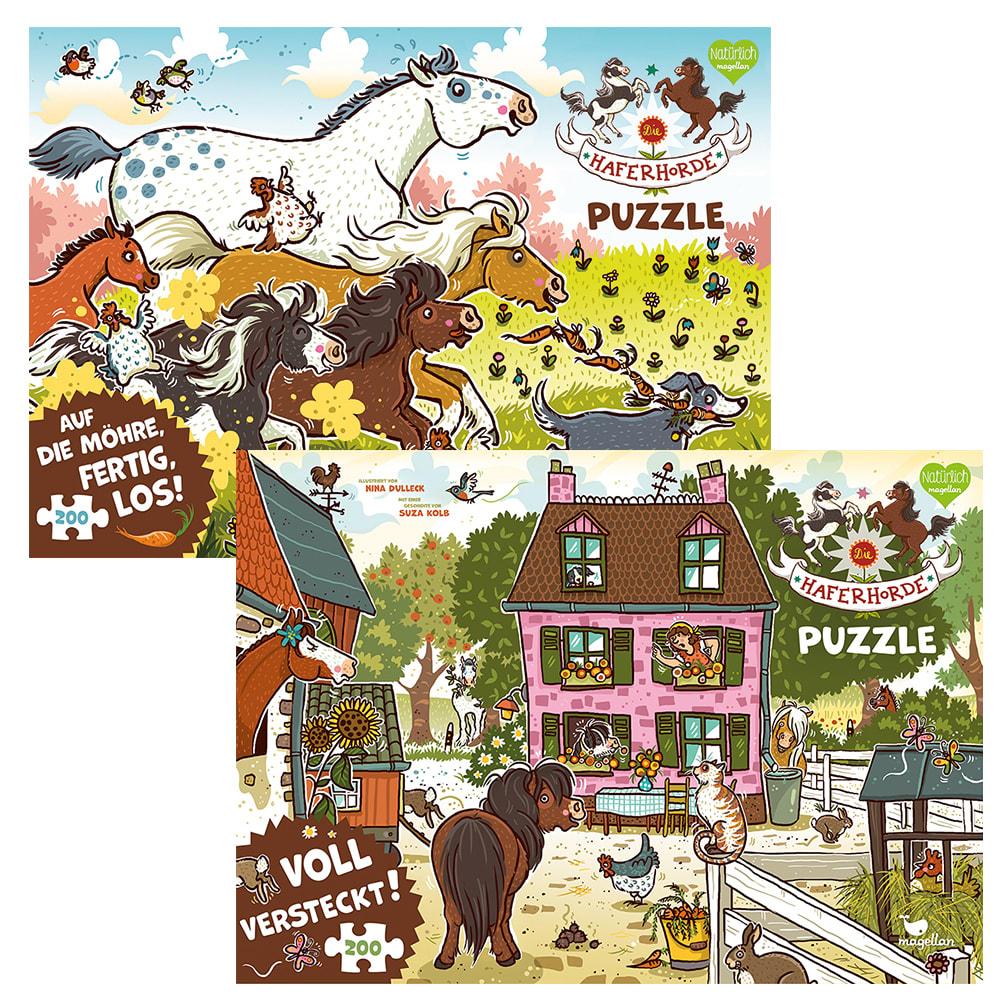 """Kombi-Paket """"Haferhorde - Puzzle"""""""
