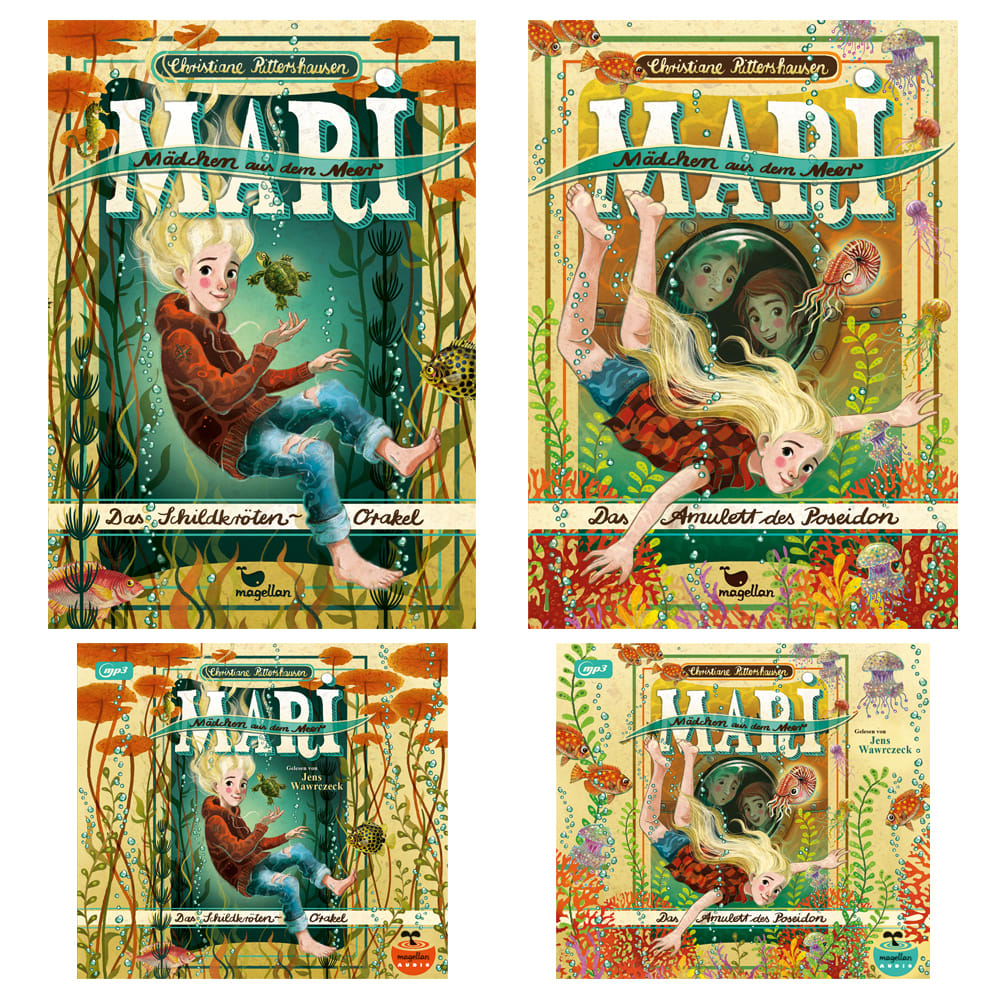 "Kombi-Paket ""Mari - Mädchen aus dem Meer, Bd. 1 + 2"" (Bücher + Hörbücher)"