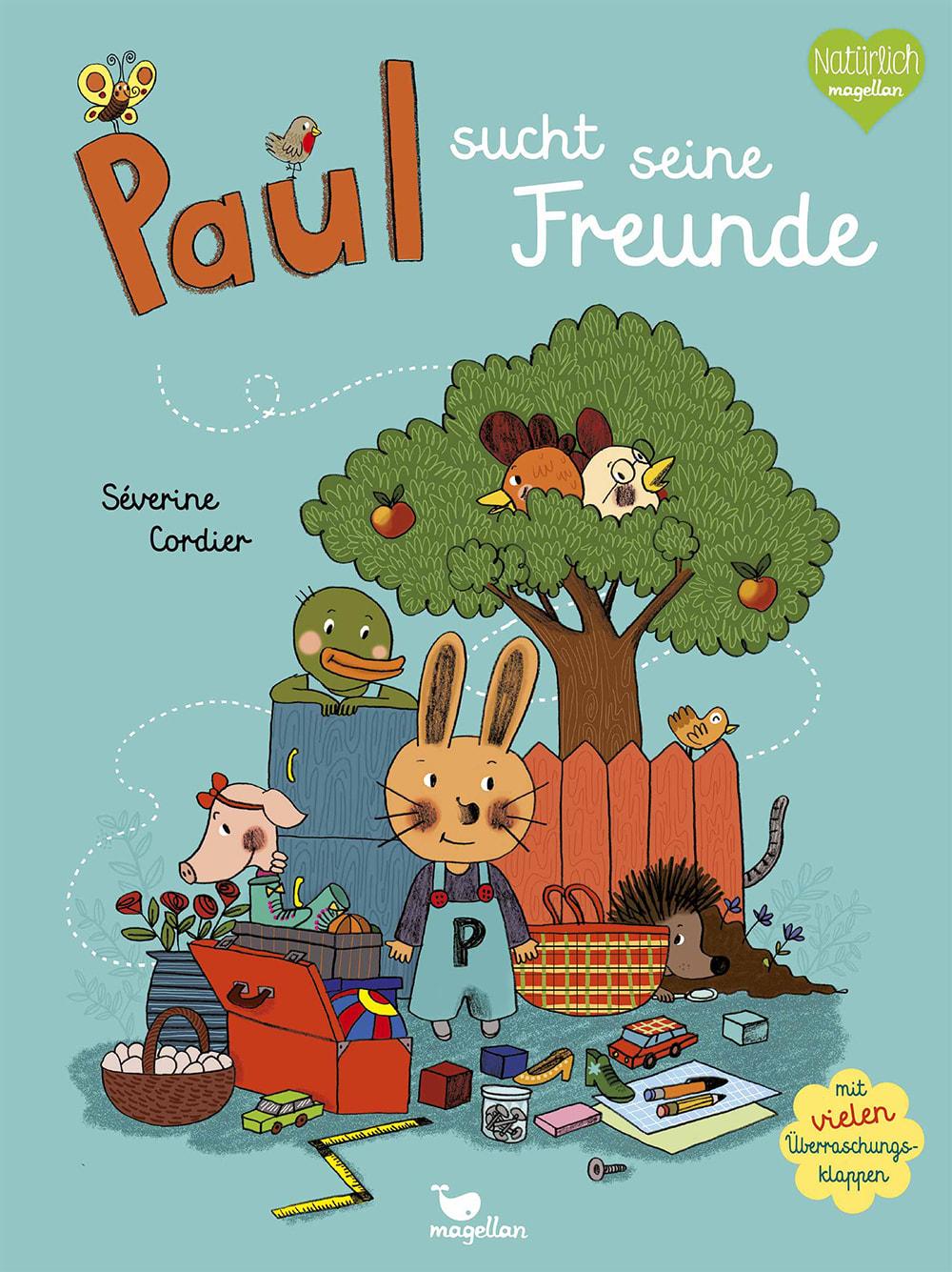 Cover Paul sucht seine Freunde Pappbilderbuch von Séverine Cordier