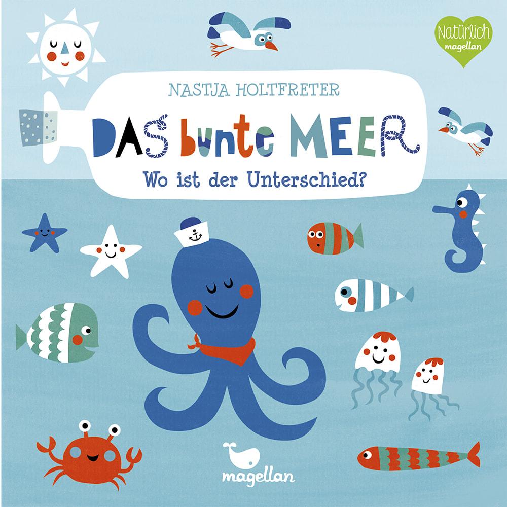 Cover Das bunte Meer Wo ist der Unterschied Suchen Pappbilderbuch von Nastja Holtfreter