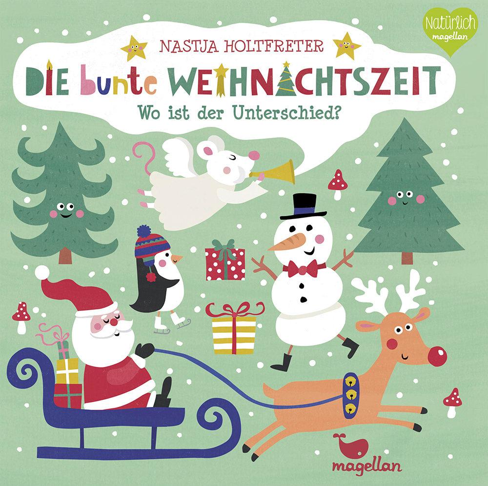 Cover Die bunte Weihnachtszeit Wo ist der Unterschied Suchen Pappbilderbuch von Nastja Holtfreter