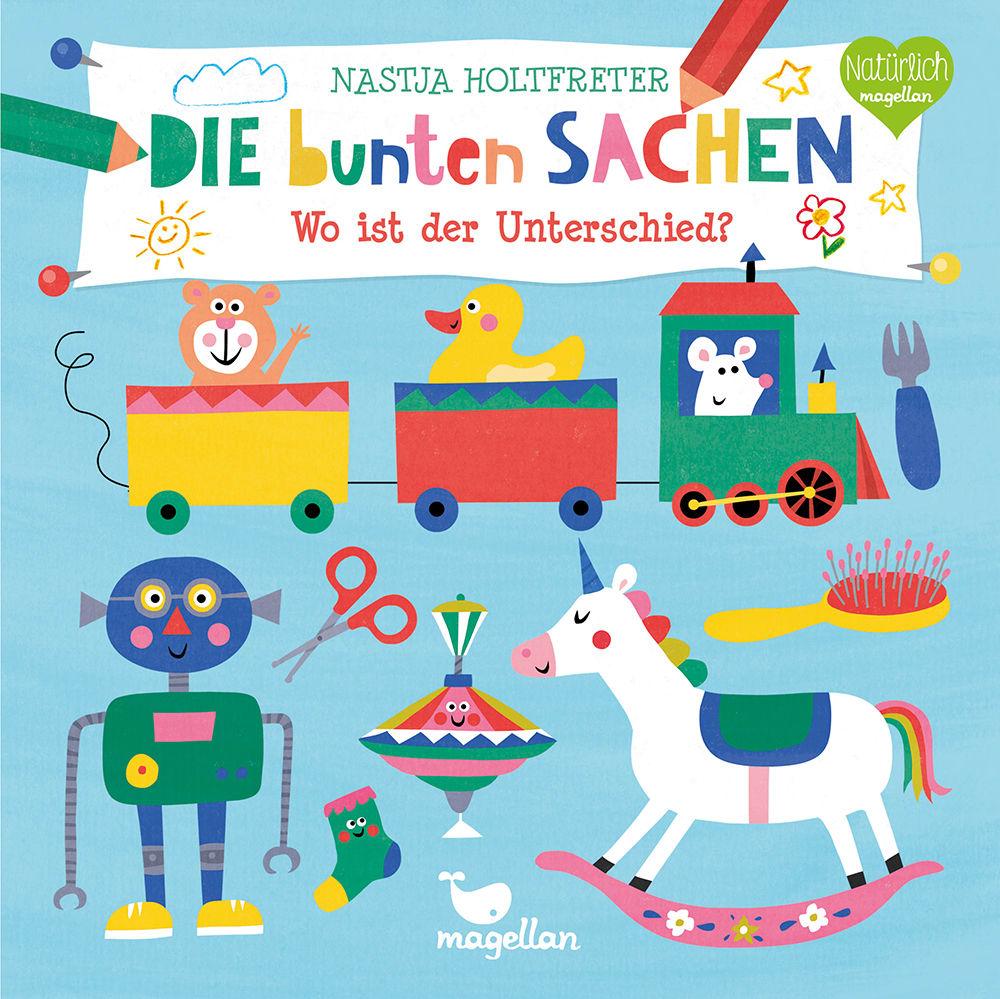 Cover Die bunten Sachen Wo ist der Unterschied Suchen Pappbilderbuch von Nastja Holtfreter