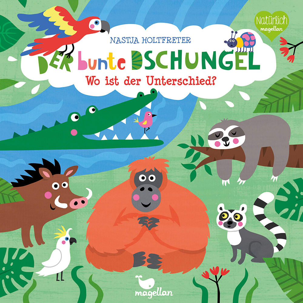 Cover Der bunte Dschungel Wo ist der Unterschied Suchen Pappbilderbuch von Nastja Holtfreter