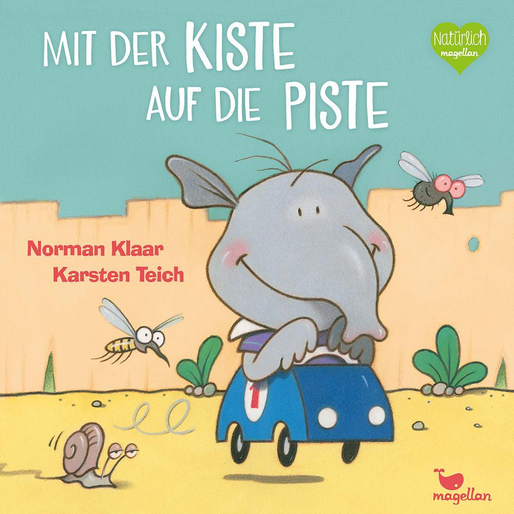 Cover Mit der Kiste auf die Piste Pappbilderbuch von Norman Klaar und Karsten Teich