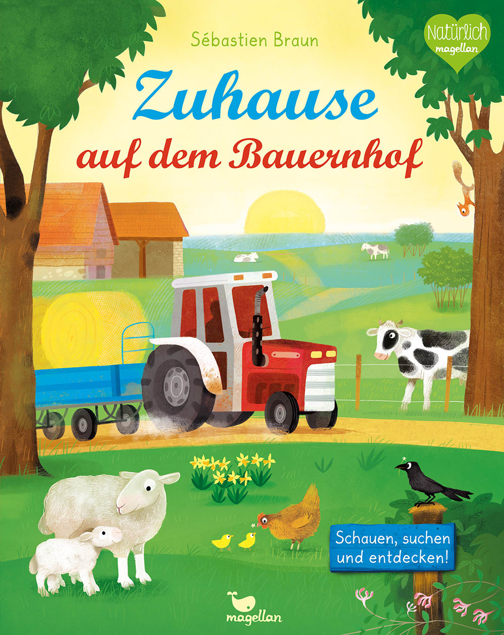 Cover Zuhause auf dem Bauernhof Wimmelbuch Pappbilderbuch von Sébastien Braun