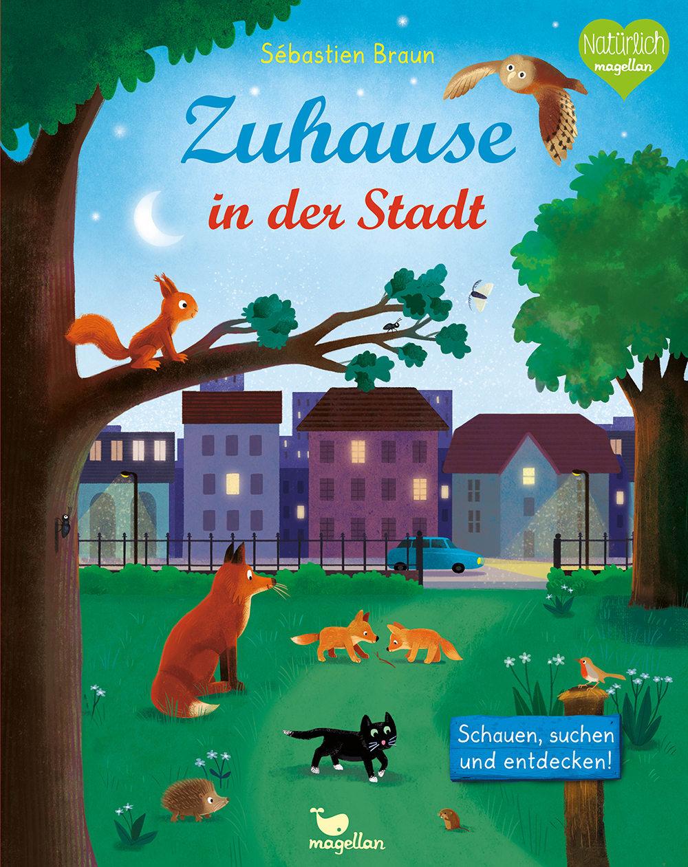 Cover Zuhause in der Stadt Wimmelbuch Pappbilderbuch von Sébastien Braun