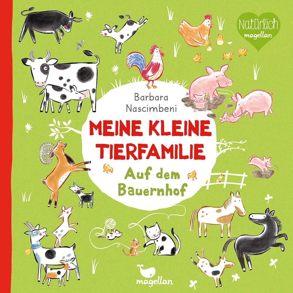 Cover Meine kleine Tierfamilie Auf dem Bauernhof Sachwissen Pappbilderbuch von Barbara Nascimbeni