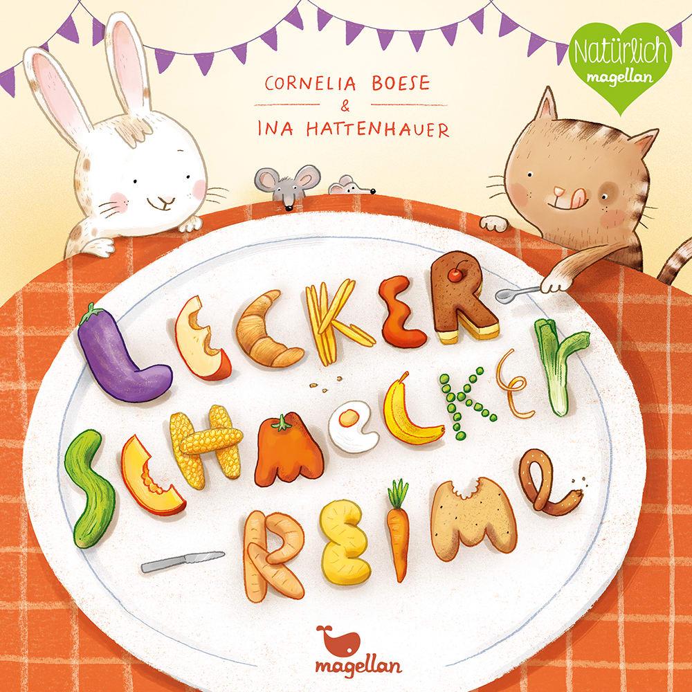 Cover Lecker Schmecker Reime Pappbilderbuch von Cornelia Boese und Ina Hattenhauer