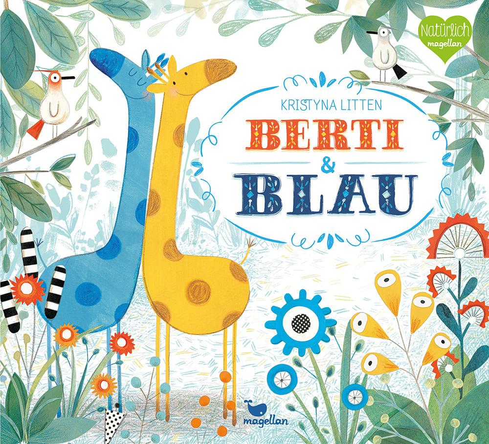 Cover Berti und Blau Bilderbuch von Kristyna Litten