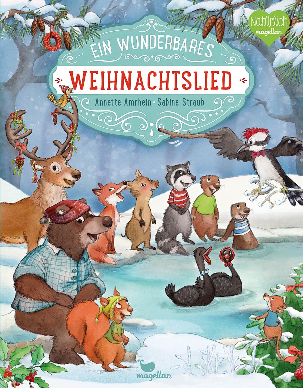 Cover Ein wunderbares Weihnachtslied Bilderbuch von Annette Amrhein und Sabine Straub