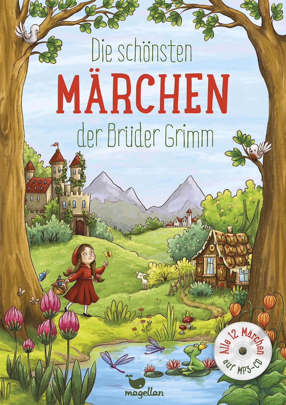 Cover Die schönsten Märchen der Brüder Grimm mit CD Vorlesebuch von Rusalka Reh und Larisa Lauber