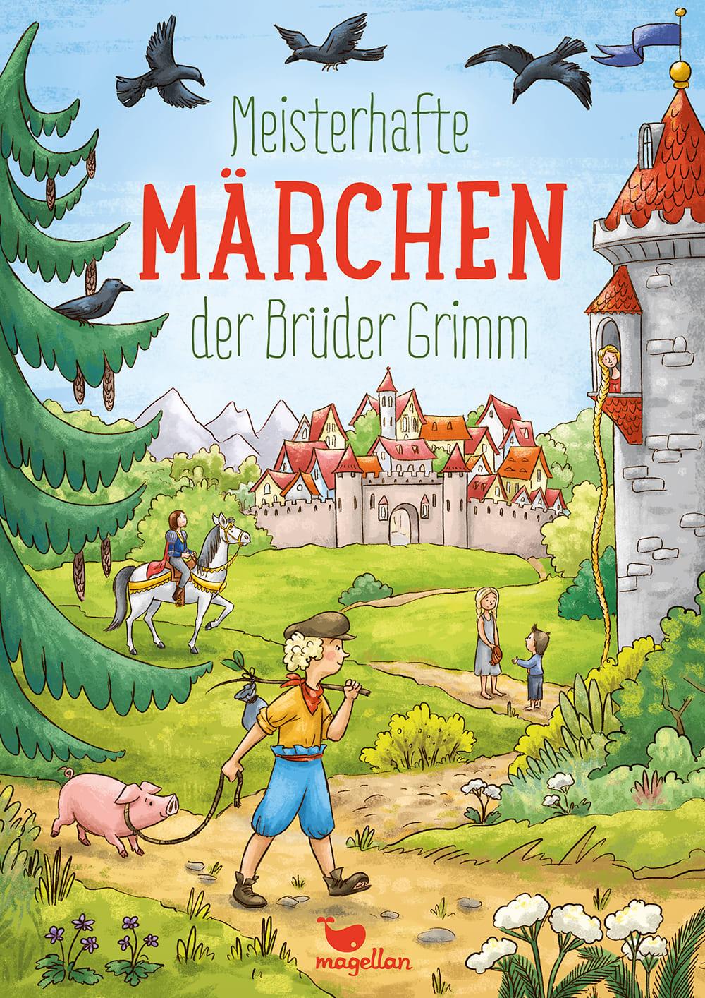 Cover Meisterhafte Märchen der Brüder Grimm Vorlesebuch von Rusalka Reh und Larisa Lauber