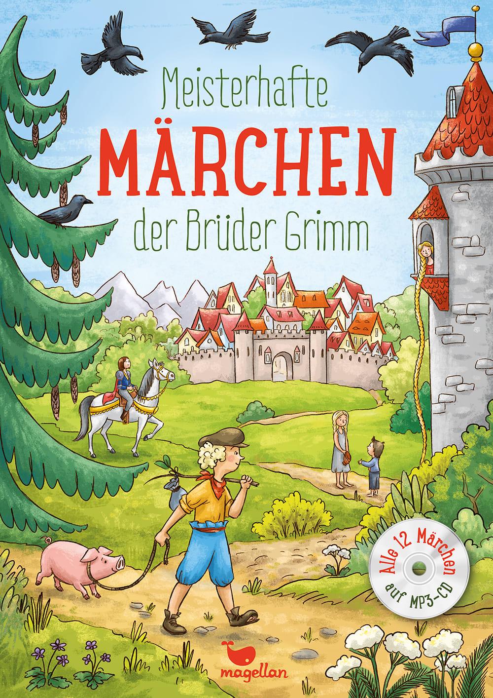 Cover Meisterhafte Märchen der Brüder Grimm mit CD Vorlesebuch von Rusalka Reh und Larisa Lauber