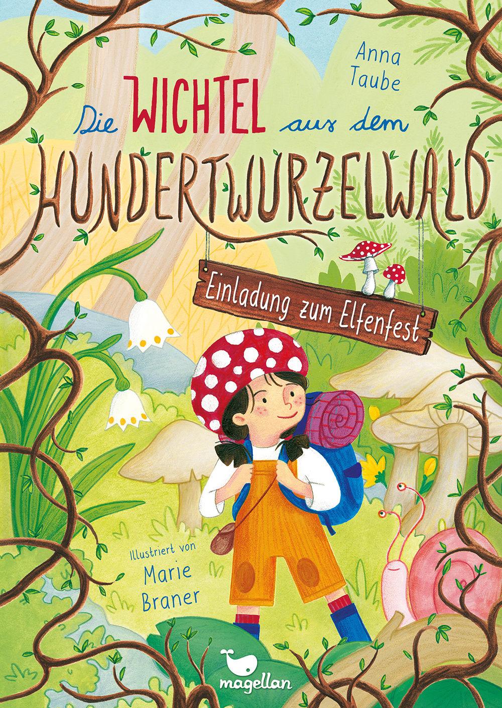 Cover Hundertwurzelwald Band1 Einladung zum Elfenfest Vorlesebuch von Anna Taube und Marie Braner