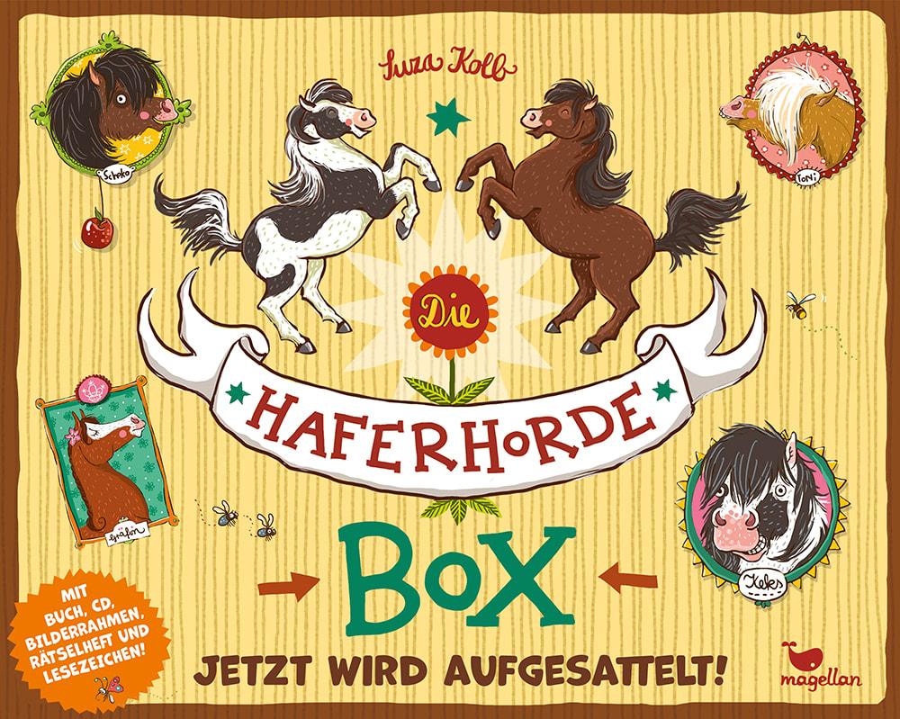 Cover Haferhorde-Box Jetzt wird aufgesattelt Pferdebuch von Suza Kolb