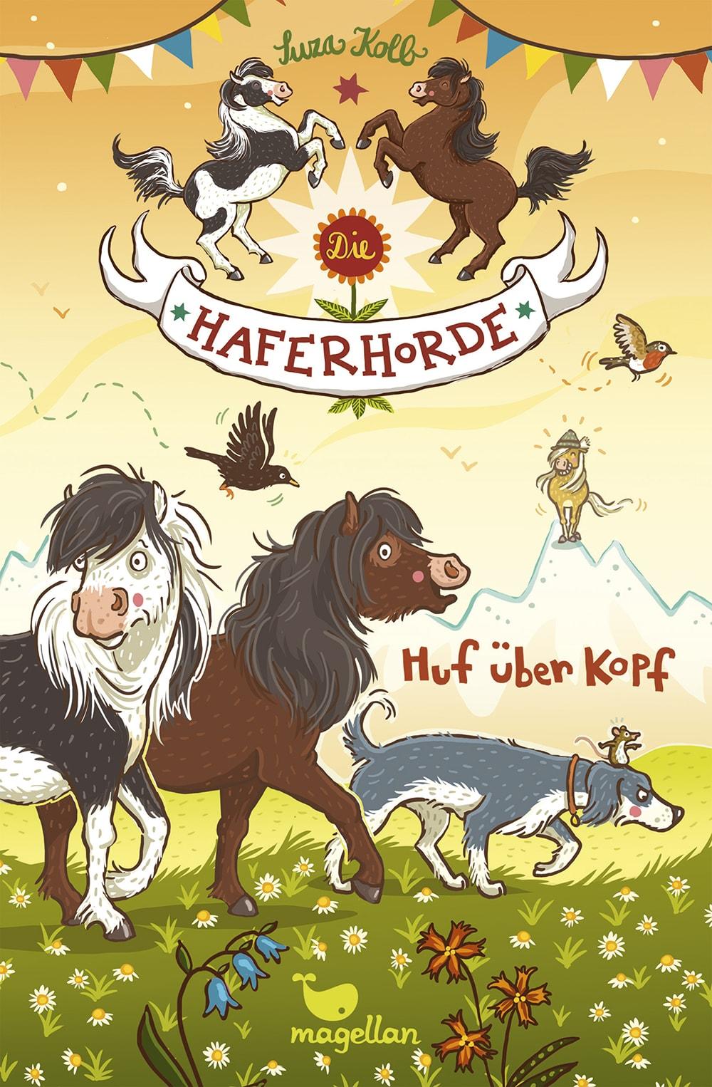 Cover Haferhorde Band7 Huf über Kopf von Suza Kolb