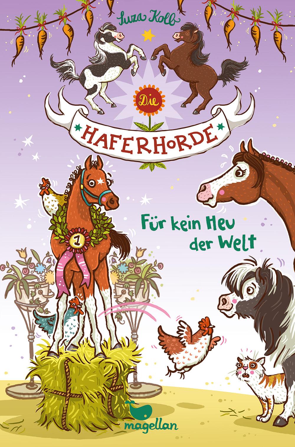 Cover Haferhorde Band10 Für kein Heu der Welt Pferdebuch von Suza Kolb