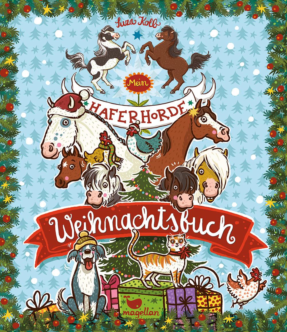 Cover Haferhorde Weihnachtsbuch Pferdebuch von Suza Kolb
