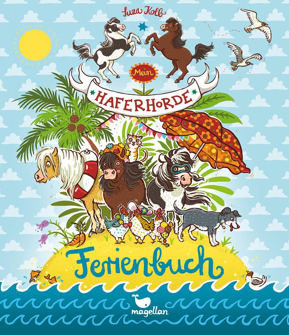Cover Mein Haferhorde-Ferienbuch Beschäftigung Pferdebuch von Suza Kolb