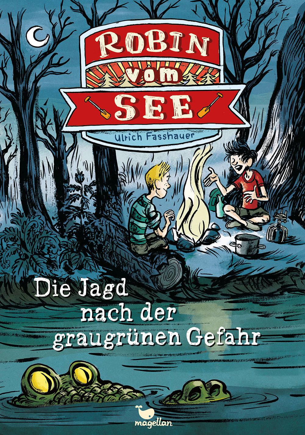 Cover Robin vom See Band2 Jagd nach der graugrünen Gefahr Kinderbuch von Ulrich Fasshauer