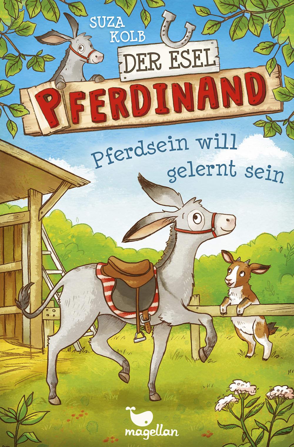 Cover Esel Pferdinand Band1 Pferdsein will gelernt sein Kinderbuch von Suza Kolb