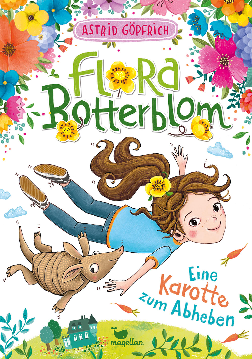 Cover Flora Botterblom Band2 Eine Karotte zum Abheben Kinderbuch von Astrid Göpfrich