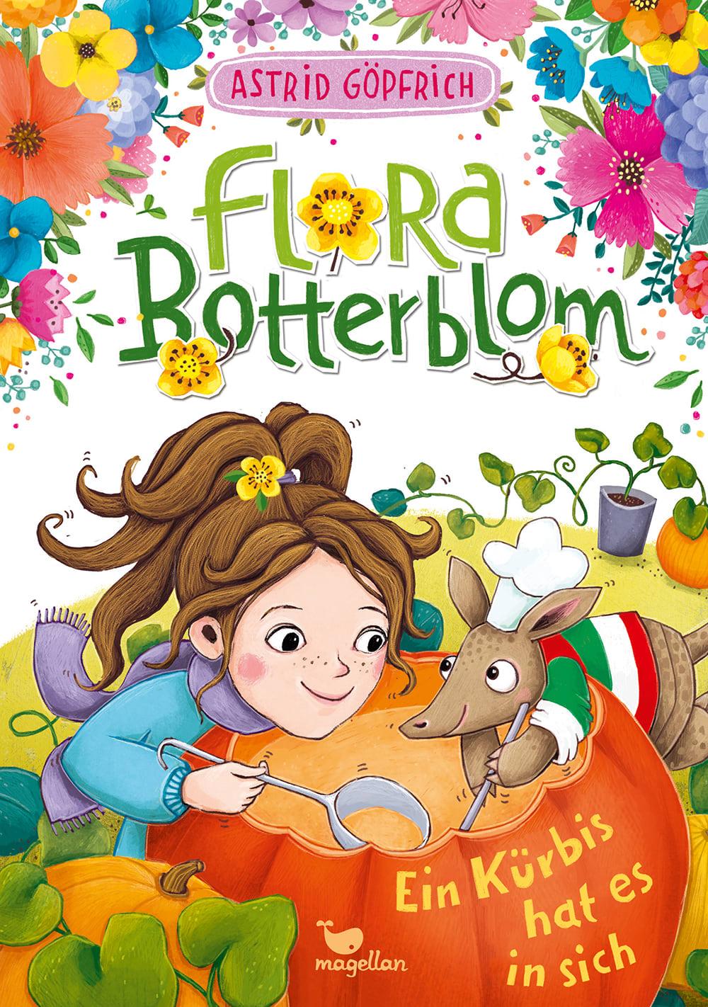Cover Flora Botterblom Band4 Ein Kürbis hat es in sich Kinderbuch von Astrid Göpfrich