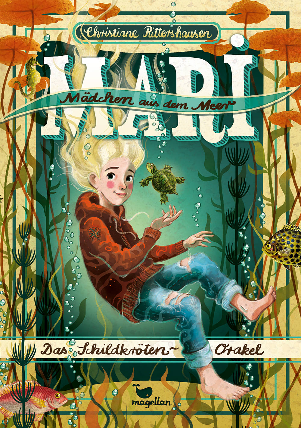 Cover Mari Mädchen aus dem Meer Band1 Das Schildkröten-Orakel Kinderbuch von Christiane Rittershausen